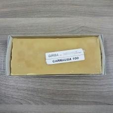 """Воск карнаубский в бруске GIRBA для финишной обработки кожи, """"Carnauba-100"""" 270 грамм."""