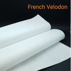 Дублирующий материал для кожи  -  нетканое усиление FRENCH VELODON 50х100 см. белый.