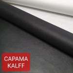 Дублирующий материал - нетканый вискозный материал CAPAMA KALFF, чёрный 0.4 мм. 45х75 см.