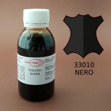 Краска для кожи жидкая TOLEDO SUPER с анилиновым эффектом 100 мл. чёрный.