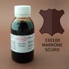 Краска для кожи жидкая TOLEDO SUPER с анилиновым эффектом 100 мл. тёмно-коричневый.