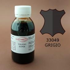 Краска для кожи жидкая TOLEDO SUPER с анилиновым эффектом 100 мл. серый.