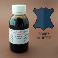 Краска для кожи жидкая TOLEDO SUPER с анилиновым эффектом 100 мл. синий.