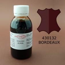 Краска для кожи жидкая TOLEDO SUPER с анилиновым эффектом 100 мл. бордовый.