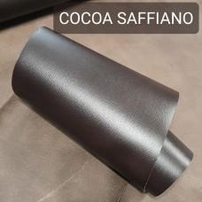 Кожа галантерейная КРС 1 сорт, сафьяно MIMI тёмно-коричневый цвет 1.4 мм. 20х97 см.