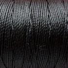Нитки для кожи японские VINYMO с двойным вощением 90 метров, размер #0, цвет чёрный.