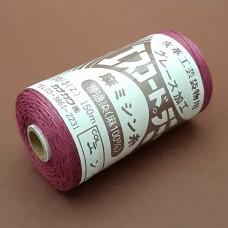 Нитки для шитья кожи, традиционные японские РАМИ-ЭКО вощёные - 150 метров №20/3. Бордовый.
