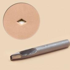 Пробойник фигурный японский, ультрапрочный с ручной заточкой - ромб 5.5х8 мм.