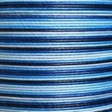 Нитки для кожи льняные MeiSi Super Fine MS071 (Gradient Blue) M40 = 0.45 мм. 90 м.