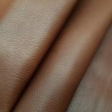 Кожа козлёнок анилиновая 2 сорт, шевро MONROE CHESTNUT коричневый 1.0 мм. 31 кв.дец.