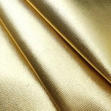 """Кожа галантерейная коза """"D"""" сафьяно золото 1.3- 1.5 мм. 46 кв.дм."""