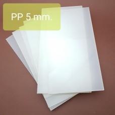 Доска для пробивных работ, вырубная плита полипропилен 5 мм. 125х250 мм.