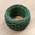 Нитки для шитья кожи вощёные, плетёные URSA. Полиэстер 30 метров, толщина 1.0 мм. Цвет - Зелёный.