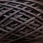 Нитки для шитья кожи вощёные, плетёные, плоские URSA. Полиэстер 30 м., толщина 1.2 мм. тёмно-коричневый.