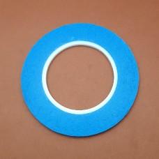 Трансфер для кожи - специальная двухсторонняя лента сильной фиксации. Ширина 3 мм. Длина 50 м. BLUE LINE.