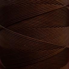 SLAM нитки для кожи. 30 м. 0.8 мм. TESTA MORO - тёмно-коричневый.