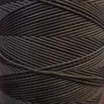 SLAM нитки для кожи. 30 м. 0.8 мм. ANTRACITE - антрацит (серо-коричневый).