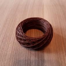 SLAM нитки для кожи. 30 м. 0.6 мм. TEAK - коричневый.