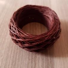 SLAM нитки для кожи. 30 м. 0.6 мм. CACAO - красно-коричневый.