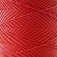 SLAM нитки для кожи. 30 м. 0.6 мм. Цвет - красный.