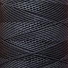SLAM нитки для кожи. 30 м. 0.6 мм. NERO - черный.