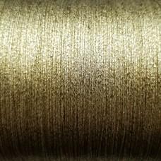 Нитки для кожи. 30 м. 0.4 мм. PAPILLON METALLIC - золото.
