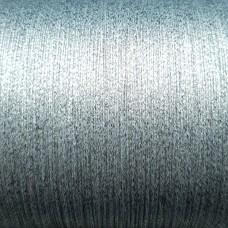Нитки для кожи. 30 м. 0.4 мм. PAPILLON METALLIC - серебро.