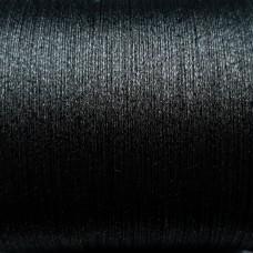 Нитки для кожи. 30 м. 0.4 мм. PAPILLON METALLIC - чёрный металл.