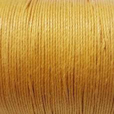 Нитки для кожи льняные LIN CABLE 0.77 мм., фирменная катушка 133 метра. Цвет JAUNE.