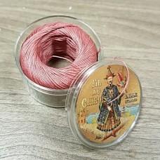 Нитки для кожи льняные FIL DE LIN №40, фирменная капсула 50 метров. Цвет розовый.