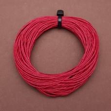 Нитки для кожи льняные LIN CABLE 0.77 мм., 10 м. Цвет ROUGE.