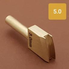 Насадка на паяльник для обработки кожи, биговка 5.0 мм.