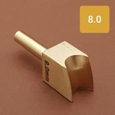 Насадка на паяльник для обработки кожи, биговка 8.0 мм.