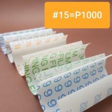 Шкурка 3М для для полимеров и кожи 3M. #15 = Р1000 по ГОСТ Р 52381-2005. Отрез 10х10 см.