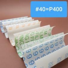 Шкурка 3М для для полимеров и кожи. #40 = Р400 по ГОСТ Р 52381-2005. Отрез 10х10 см.