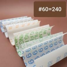 Шкурка 3М для для полимеров и кожи 3M. #60 = Р240 по ГОСТ Р 52381-2005. Отрез 10х10 см.