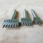 Набор пробойников строчных с круглым отверстием 2+4+6, диаметр зубчика 1 мм., шаг 4 мм.