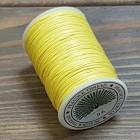 Нитки для кожи PEACOCK натуральная глазированная РАМИ! Катушка 0.6 мм. х 100 м. Цвет лимон №04.