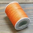 Нитки для кожи PEACOCK натуральная глазированная РАМИ! Катушка 0.6 мм. х 100 м. Цвет оранж №06.