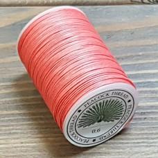 Нитки для кожи PEACOCK натуральная глазированная РАМИ! Катушка 0.6 мм. х 100 м. Цвет лосось №08.