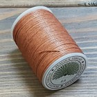 Нитки для кожи PEACOCK натуральная глазированная РАМИ! Катушка 0.6 мм. х 100 м. Цвет карамель №17.