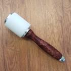 Молоток для тиснения - киянка из капролона (сверхпрочный полиамид-6). Ручка дерево!