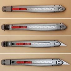 Нож для кожи SDI Locking Craft Knife металлический корпус с фиксацией лезвия.