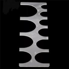 Шаблон трафарет (выкройка) из оргстекла для отсечки ремней от 15 до 40 мм.  Английская форма кончика.