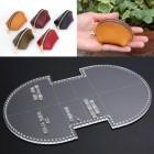 Шаблон трафарет (выкройка) из оргстекла для изготовления мини кошелька на молнии 45х115 мм.