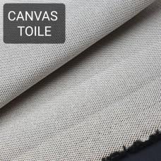 Универсальный материал - канвас FRENCH TOILE однослойный чёрный.