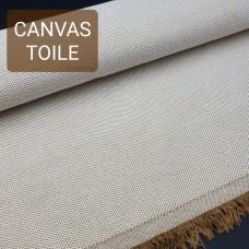 Универсальный материал - канвас FRENCH TOILE двухслойный светло-коричневый.
