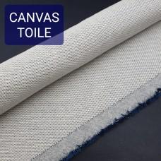 Универсальный материал - канвас FRENCH TOILE однослойный тёмно-синий.