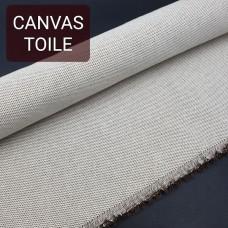 Универсальный материал - канвас FRENCH TOILE однослойный тёмно-коричневый.