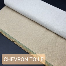 Универсальный материал - канвас TOILE CHEVRON бежевый.